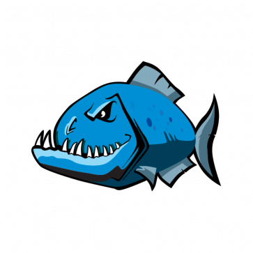 Angry Blue Piranha 06001