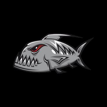 Angry Gray Racing Piranha 06015