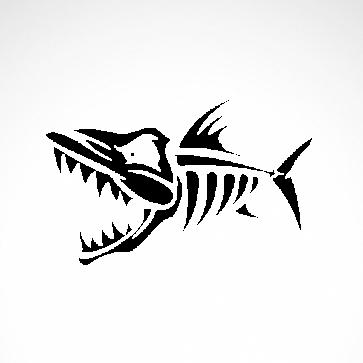 Fish Skeleton 06113