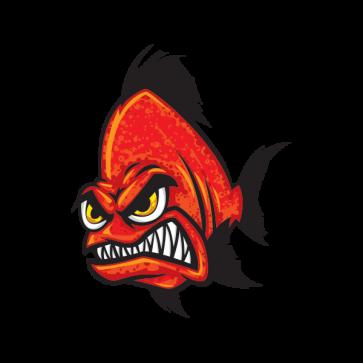 Angry Red Piranha 06141