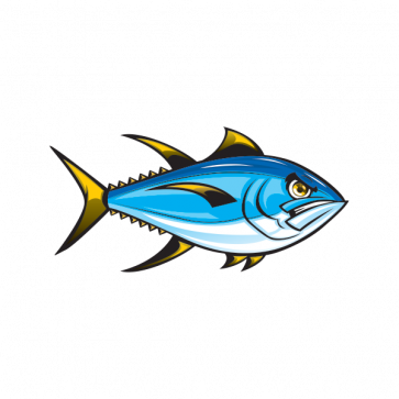 Angry Yellowfin Tuna 06145