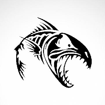Fish Bones Skull And Skeleton 06150