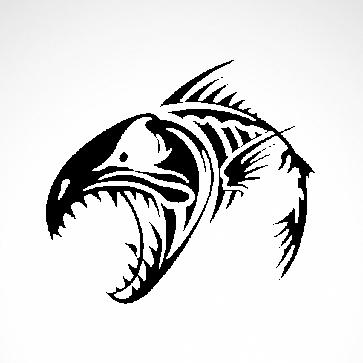 Fish Bones Skull And Skeleton 06151