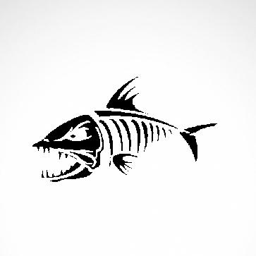 Skeleton Fish Bones 06160