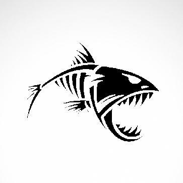 Skeleton Fish Bones Skull  06163