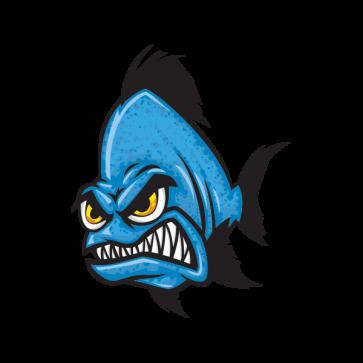 Angry Blue Piranha 06167