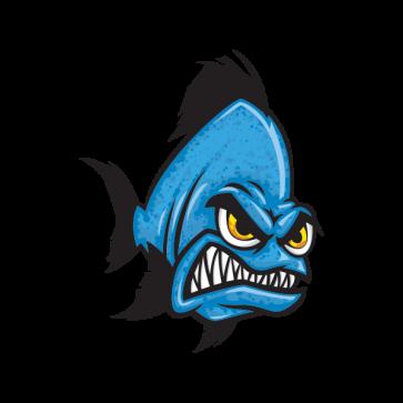 Angry Blue Piranha 06168