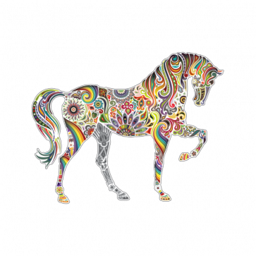 Fantasy Floral Horse 06482