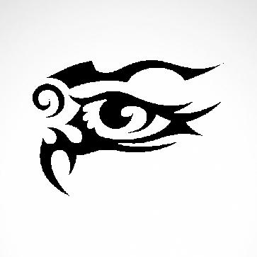 Tribal Design Tatto Style Eye 07469