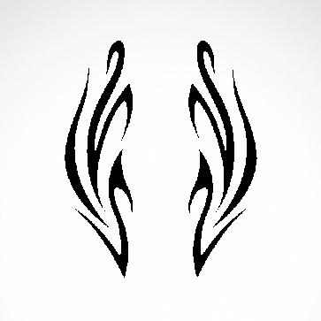 Tribal Design Tatto Style 07473