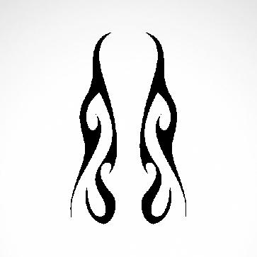 Tribal Design Tatto Style 07475