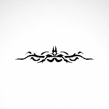 Tribal Design Tatto Style 07488