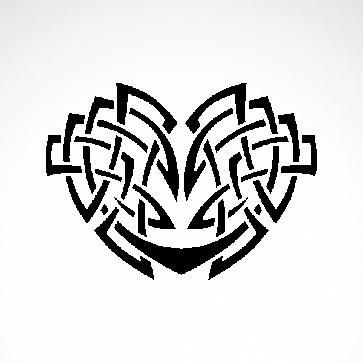 Tribal Design Tatto Style Heart 07491