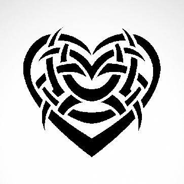 Tribal Design Tatto Style Heart 07494