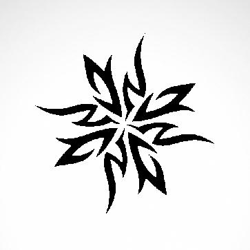 Tribal Tattoo Ninja Stars 07518