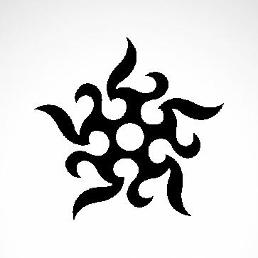 Tribal Tattoo Ninja Stars 07519
