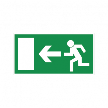 Emergency Exit To The Left Sign 08182