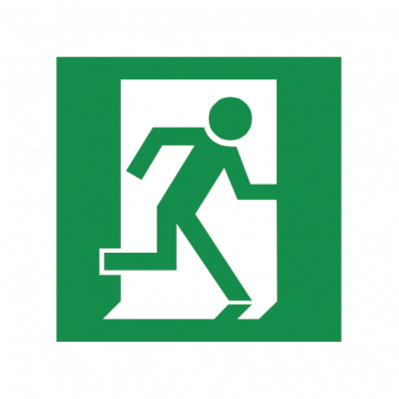 Emergency Exit To The Right Sign 08185