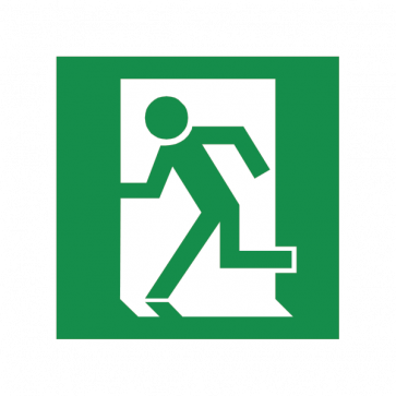 Emergency Exit To The Left Sign 08186