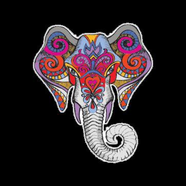 Traditional Art Elephant Head 08614