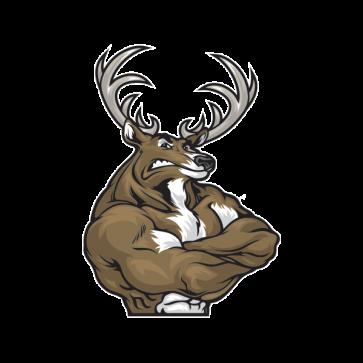 Printed Vinyl Angry Male Deer Muscle Stickers Factory