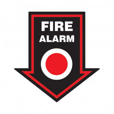Fire Alarm Button Emergencies Signs 11159