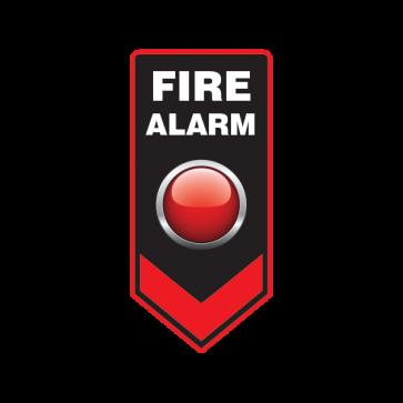 Fire Alarm Button Emergencies Signs 11183