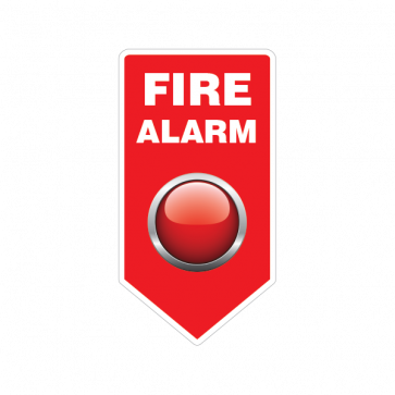 Fire Alarm Button Emergencies Signs 11185