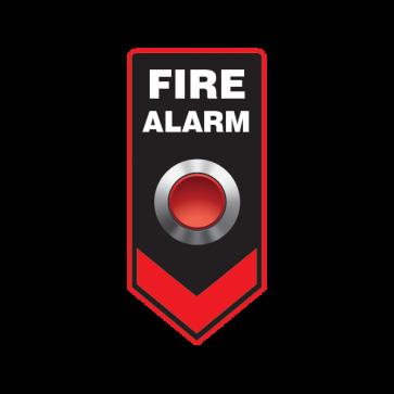 Fire Alarm Button Emergencies Signs 11187