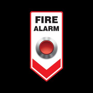 Fire Alarm Button Emergencies Signs 11188