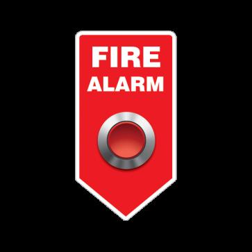 Fire Alarm Button Emergencies Signs 11189