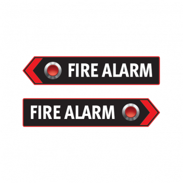 Fire Alarm Button Emergencies Signs 11190