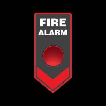 Fire Alarm Button Emergencies Signs 11191