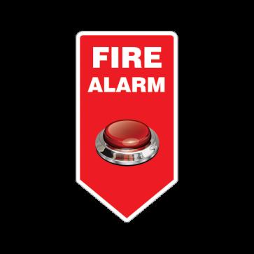 Fire Alarm Button Emergencies Signs 11195