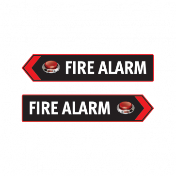 Fire Alarm Button Emergencies Signs 11196