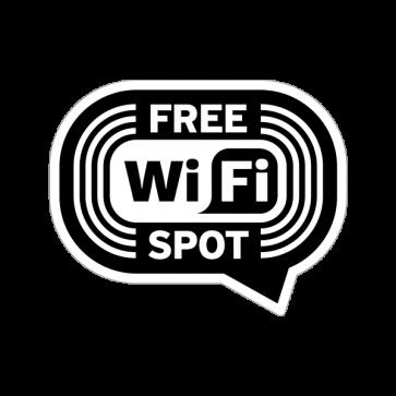 Wifi Free Spot Black White  12044