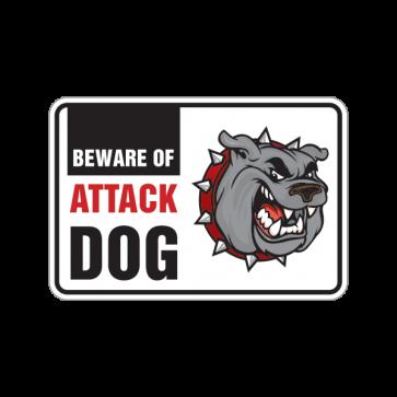 Beware Of Attack Dog Bulldog Sign 12100