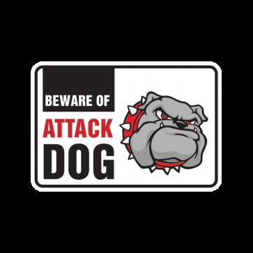 Beware Of Attack Dog Bulldog 12108