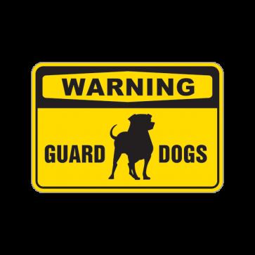 Warning Guard Dogs Sign 12114