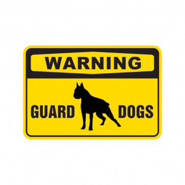 Warning Guard Dogs Sign 12115