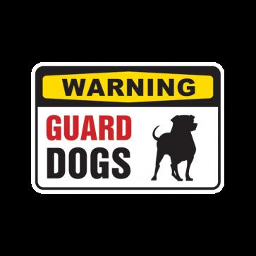 Warning Guard Dogs On Patrol Sign 12131