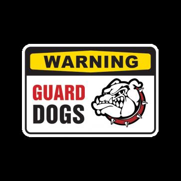Warning Guard Dogs Sign 12133