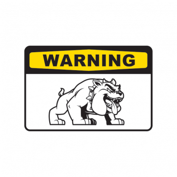 Warning Attack Dog Bulldog Sign 12135