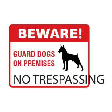 Beware Guard Dogs On Premises Sign 12136