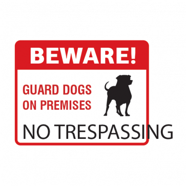 Beware No Trespassing Sign 12140