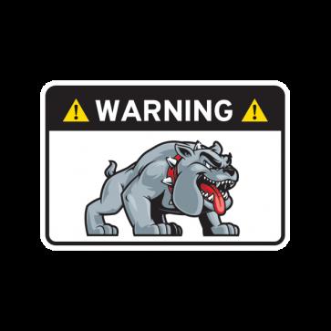Warning Guard Bulldog Sign 12145