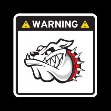 Warning Guard Bulldog Sign 12146