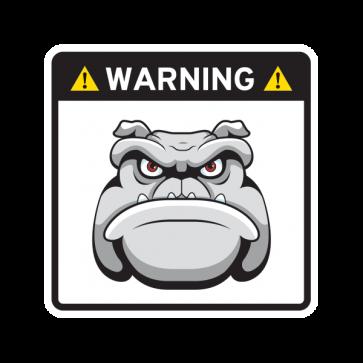 Warning Guard Bulldog Sign 12148