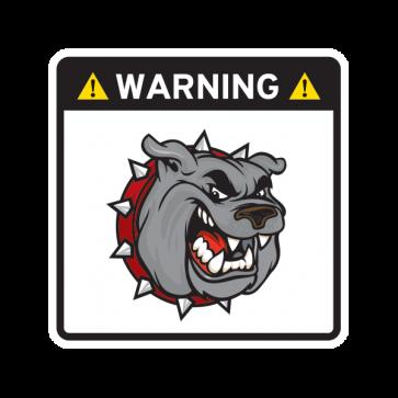 Warning Guard Bulldog Sign 12149