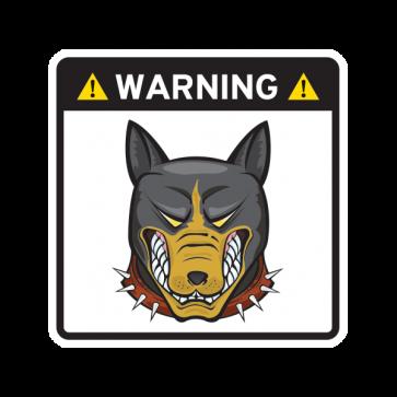 Warning Guard Bulldog Sign 12155